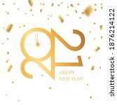 happy new year 2021   new year  ... | Shutterstock .eps vector #1876214122
