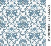 seamless background .damask... | Shutterstock . vector #187623206
