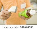salesclerk of convenience store ... | Shutterstock . vector #187640336