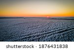 Beautiful Sunset In A Winter...