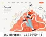 business topics   career  web... | Shutterstock .eps vector #1876440445