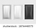 vector 3d realistic foil  white ... | Shutterstock .eps vector #1876448575