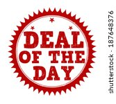 deal of the day grunge rubber... | Shutterstock .eps vector #187648376