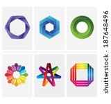 colorful brand identity design... | Shutterstock .eps vector #187648496