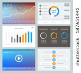 flat ui design. set of various...