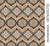 ikat border. geometric folk...   Shutterstock .eps vector #1876531732