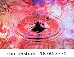 photo art  water drop and... | Shutterstock . vector #187657775