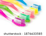 Set Colorful Toothbrushes On...