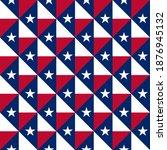 texas flag  seamless pattern.... | Shutterstock .eps vector #1876945132