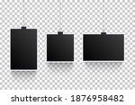 blank photoframes hanging with... | Shutterstock .eps vector #1876958482