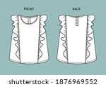 Blouse For Girl Front And Back...