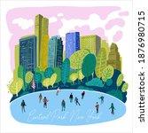 central park  new york....   Shutterstock .eps vector #1876980715