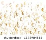 euro dollar pound yen gold...   Shutterstock .eps vector #1876984558