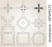 9 vintage design elements | Shutterstock .eps vector #187699172