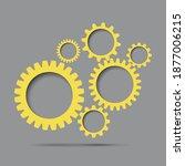 abstract gear. 2021 ... | Shutterstock .eps vector #1877006215