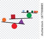 vector concept of balance... | Shutterstock .eps vector #1877008885