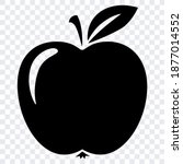 black vector isolated apple logo | Shutterstock .eps vector #1877014552
