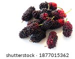 Fresh Black And Red Mulberries...