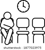 waiting icon  waiting  room... | Shutterstock .eps vector #1877023975