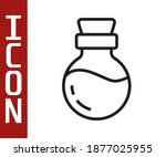black line bottle with potion... | Shutterstock .eps vector #1877025955