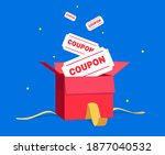 a box full of coupons... | Shutterstock .eps vector #1877040532