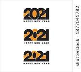 2021 happy new year design ... | Shutterstock .eps vector #1877045782