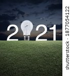 2021 White Text And Light Bulb...