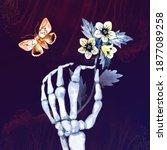 watercolor happy halloween...   Shutterstock . vector #1877089258
