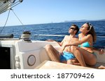 lucky couple relaxing on... | Shutterstock . vector #187709426