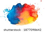 vector blue red and yellow... | Shutterstock .eps vector #1877098642
