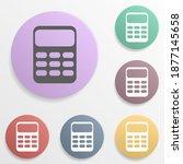 calculator badge color set icon....