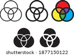 venn diagram icon  vector...   Shutterstock .eps vector #1877150122