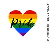 pride is a symbol of lgbt | Shutterstock . vector #1877178325