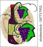 stylized wine bottle  | Shutterstock .eps vector #187717952