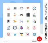 stock vector icon pack of 25... | Shutterstock .eps vector #1877197342