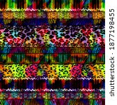 collage pattern work and fabric ...   Shutterstock . vector #1877198455
