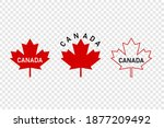 set of canada leaf. red maple... | Shutterstock .eps vector #1877209492