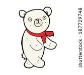 cute cartoon polar teddy bear | Shutterstock .eps vector #187729748