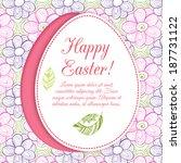 easter egg on flowers... | Shutterstock .eps vector #187731122
