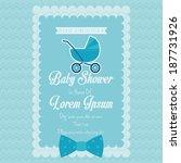 vector baby shower template... | Shutterstock .eps vector #187731926