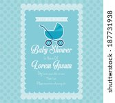 vector baby shower template... | Shutterstock .eps vector #187731938