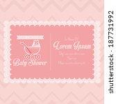 vector baby shower template... | Shutterstock .eps vector #187731992