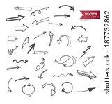 vector illustration of arrows | Shutterstock .eps vector #187732862