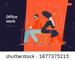 business topics   office work ... | Shutterstock .eps vector #1877375215