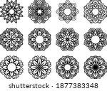 lotus mandala vector template... | Shutterstock .eps vector #1877383348