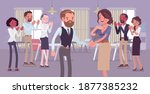employee of month  announcement ... | Shutterstock .eps vector #1877385232