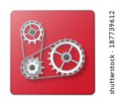 chain with cogwheels icon... | Shutterstock .eps vector #187739612