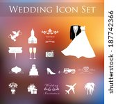 wedding planner icons and... | Shutterstock .eps vector #187742366