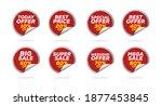 sale tags set vector badges... | Shutterstock .eps vector #1877453845