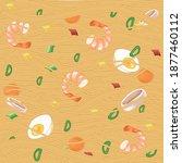 illustration with wok noodles... | Shutterstock .eps vector #1877460112